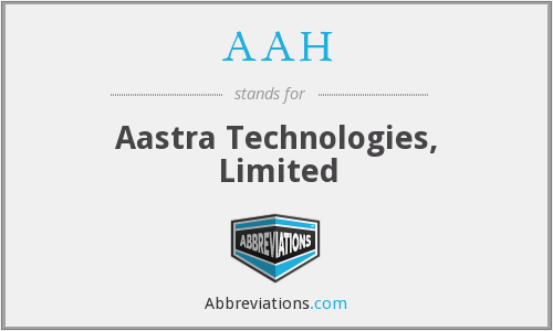 AAH - Aastra Technologies, Limited