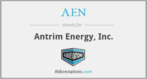AEN - Antrim Energy, Inc.