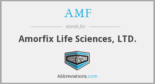 AMF - Amorfix Life Sciences, LTD.