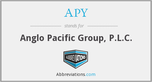 APY - Anglo Pacific Group, P.L.C.