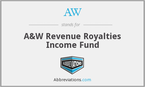AW - A&W Revenue Royalties Income Fund