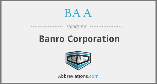 BAA - Banro Corporation