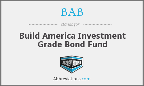 BAB - Build America Investment Grade Bond Fund