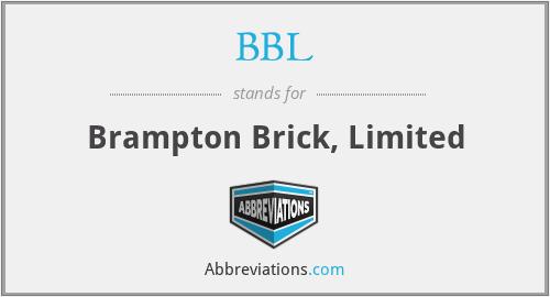 BBL - Brampton Brick, Limited