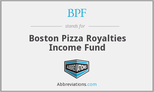 BPF - Boston Pizza Royalties Income Fund