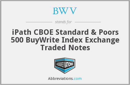 BWV - iPath CBOE Standard & Poors 500 BuyWrite Index Exchange Traded Notes