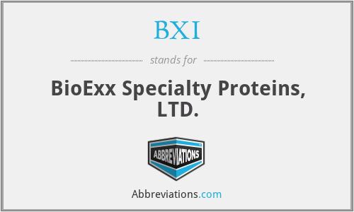 BXI - BioExx Specialty Proteins, LTD.