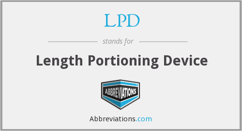 LPD - Length Portioning Device