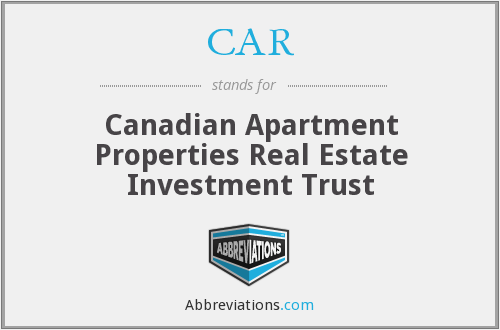 CAR - Canadian Apartment Properties Real Estate Investment Trust