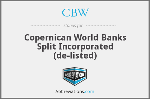 CBW - Copernican World Banks Split Inc.