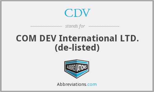 CDV - COM DEV International Ltd.