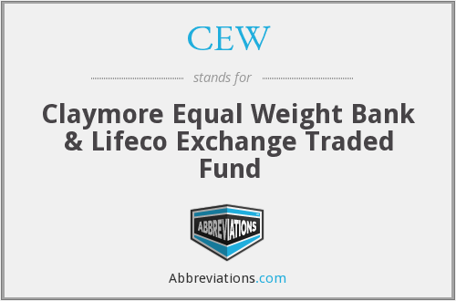 CEW - Claymore Equal Weight Banc & Lifeco ETF