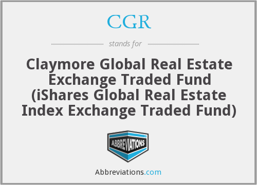 CGR - iShares Global Real Estate Index ETF (formerly Claymore Global Real Estate Exchange Traded Fund)