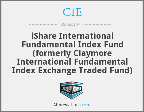 CIE - iShare International Fundamental Index Fund (formerly Claymore International Fundamental Index Exchange Traded Fund)