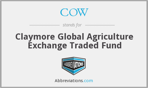 COW - Claymore Global Agriculture ETF