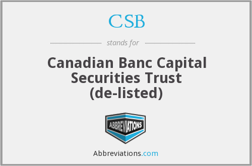 CSB - Canadian Banc Capital Securities Trust  (de-listed)