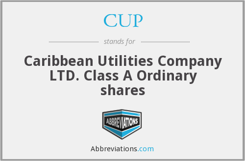 CUP - Caribbean Utilities Company LTD. Class A Ordinary shares