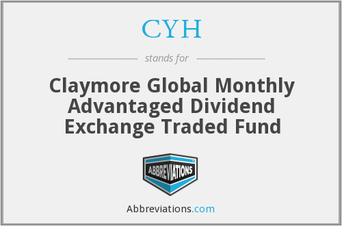 CYH - Claymore Global Monthly Advantaged Dividend Exchange Traded Fund