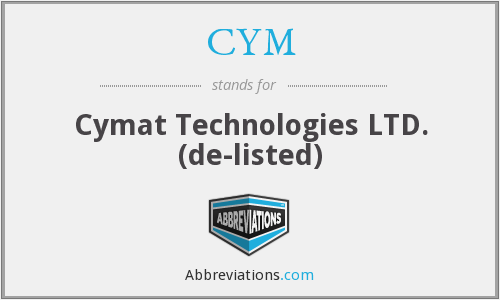 CYM - Cymat Technologies Ltd.