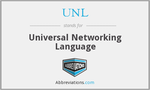 UNL - Universal Networking Language
