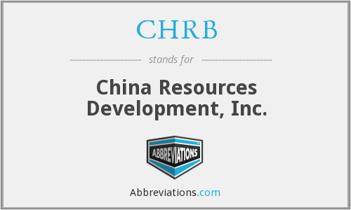 CHRB - China Resources Development, Inc.
