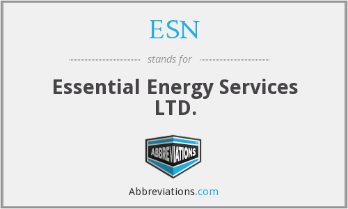 ESN - Essential Energy Services LTD.