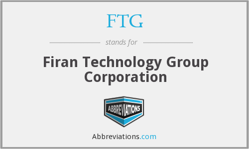 FTG - Firan Technology Group Corporation