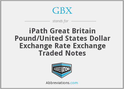GBX - iPath Great Britain Pound/United States Dollar Exchange Rate Exchange Traded Notes