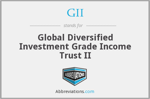 GII - Global Diversified Investment Grade Income Trust II