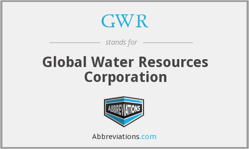 GWR - Global Water Resources Corporation