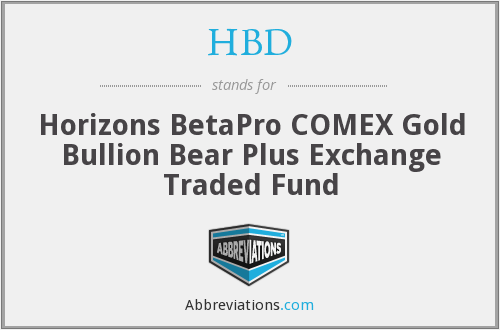 HBD - Horizons BetaPro COMEX Gold Bullion Bear Plus Exchange Traded Fund