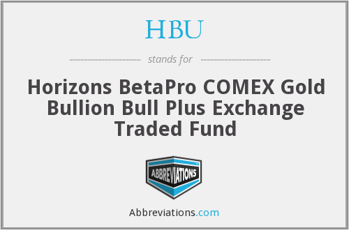 HBU - Horizons BetaPro COMEX Gold Bullion Bull Plus Exchange Traded Fund