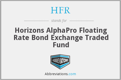 HFR - Horizons AlphaPro Floating Rate Bond Exchange Traded Fund