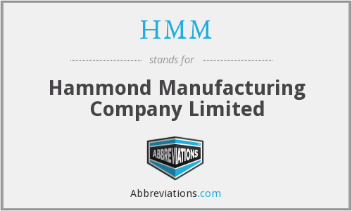 HMM - Hammond Manufacturing Company Limited