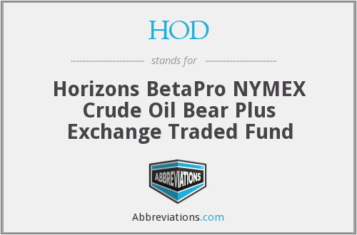 HOD - Horizons BetaPro NYMEX Crude Oil Bear Plus Exchange Traded Fund