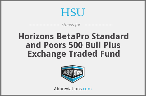 HSU - Horizons BetaPro Standard and Poors 500 Bull Plus Exchange Traded Fund