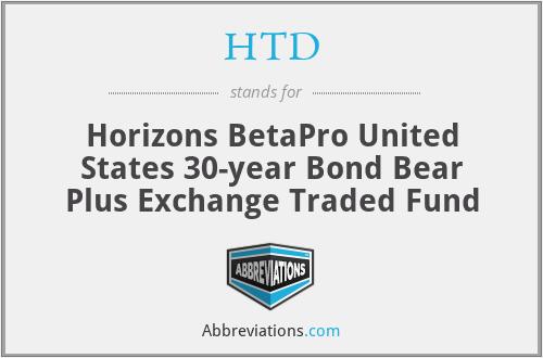 HTD - Horizons BetaPro United States 30-year Bond Bear Plus Exchange Traded Fund