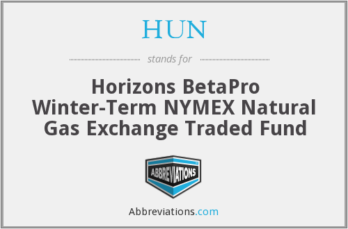 HUN - Horizons BetaPro Winter-Term NYMEX Natural Gas Exchange Traded Fund