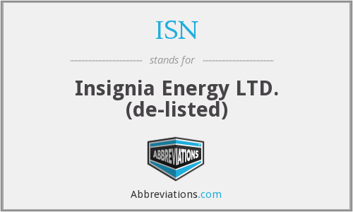 ISN - Insignia Energy Ltd.