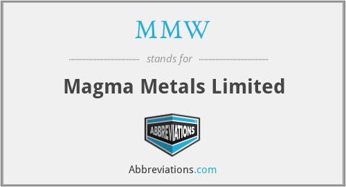 MMW - Magma Metals Limited