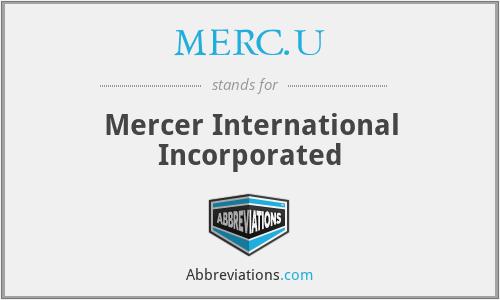 MERC.U - Mercer International Incorporated