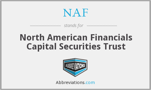 NAF - North American Financials Capital Securities Trust