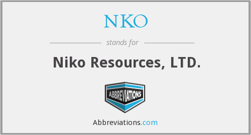 NKO - Niko Resources, LTD.