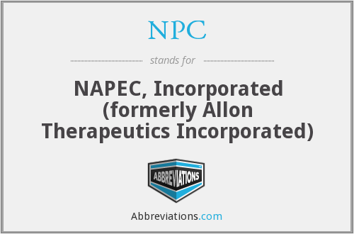 NPC - NAPEC, Incorporated  (formerly Allon Therapeutics Incorporated)