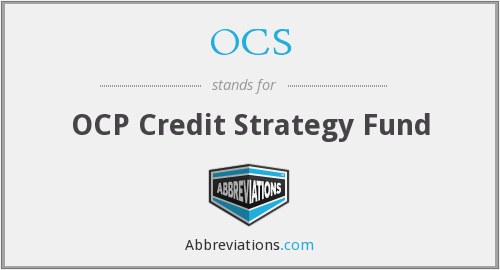 OCS - OCP Credit Strategy Fund