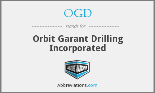 OGD - Orbit Garant Drilling Incorporated