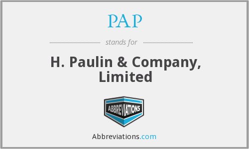 PAP - H. Paulin & Company, Limited