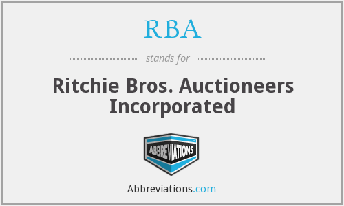 RBA - Ritchie Bros. Auctioneers Incorporated