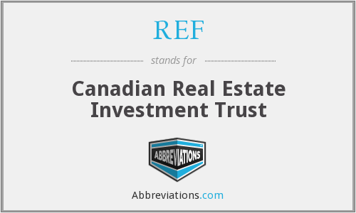 REF - Canadian Real Estate Investment Trust