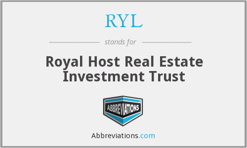 RYL - Royal Host Real Estate Investment Trust